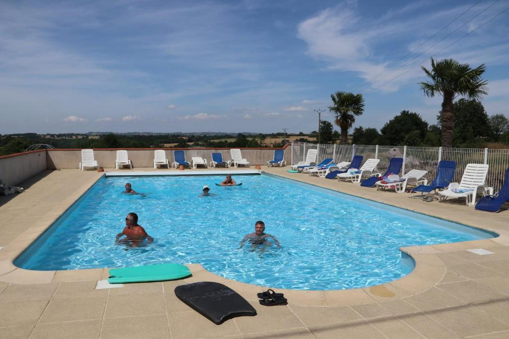 The swimming pool at or near Manoir Courtyard cottage rental Vendee