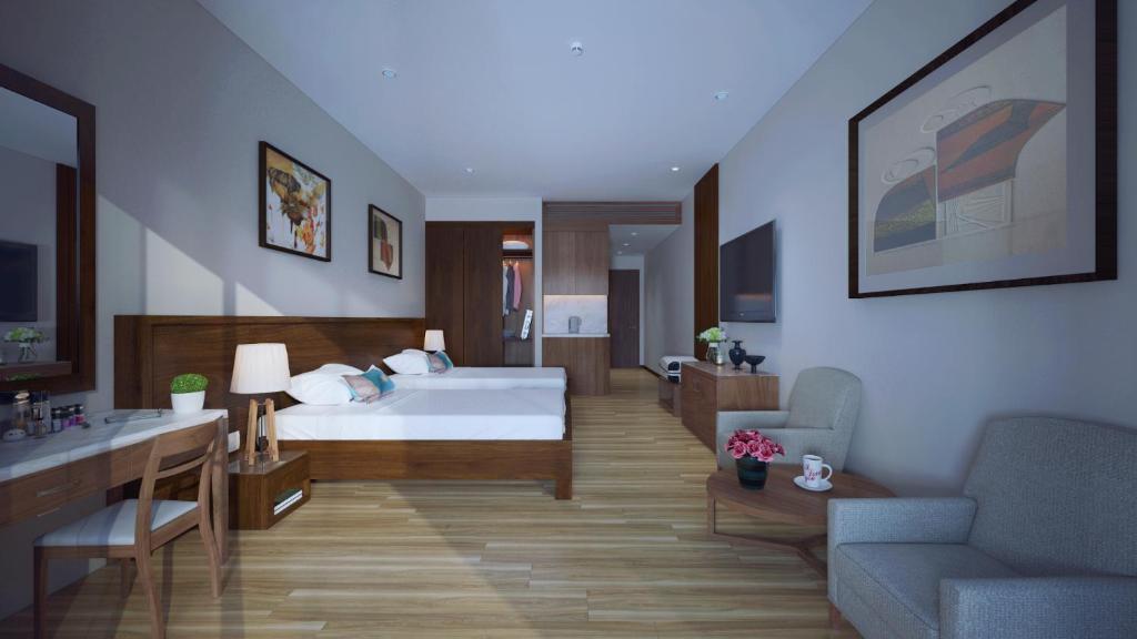 Phòng Grand Deluxe có Giường Đôi và Tầm nhìn ra Vườn