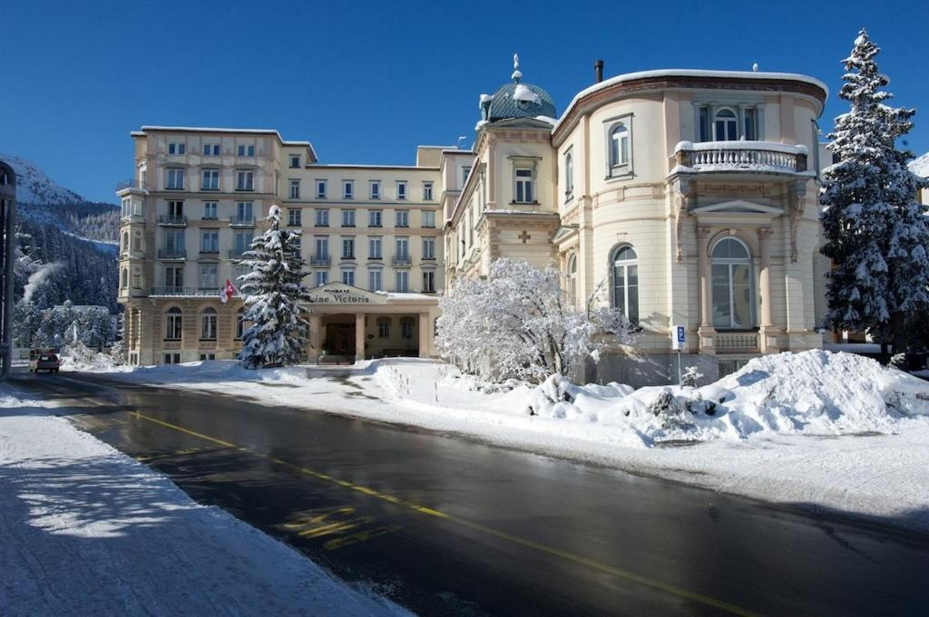 Hotel Reine Victoria by Laudinella during the winter