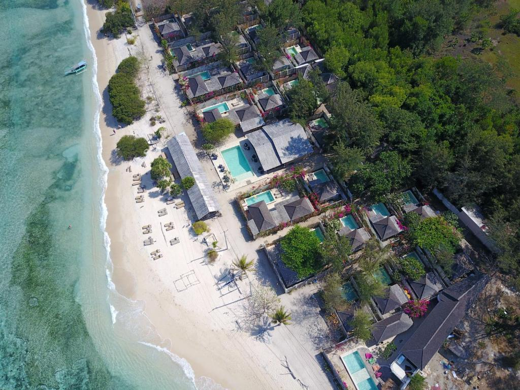 A bird's-eye view of AVIA Villa Resort