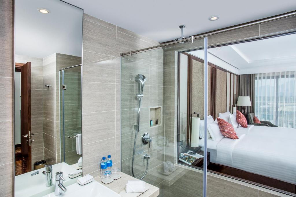 Phòng Giường Đôi với Sân hiên