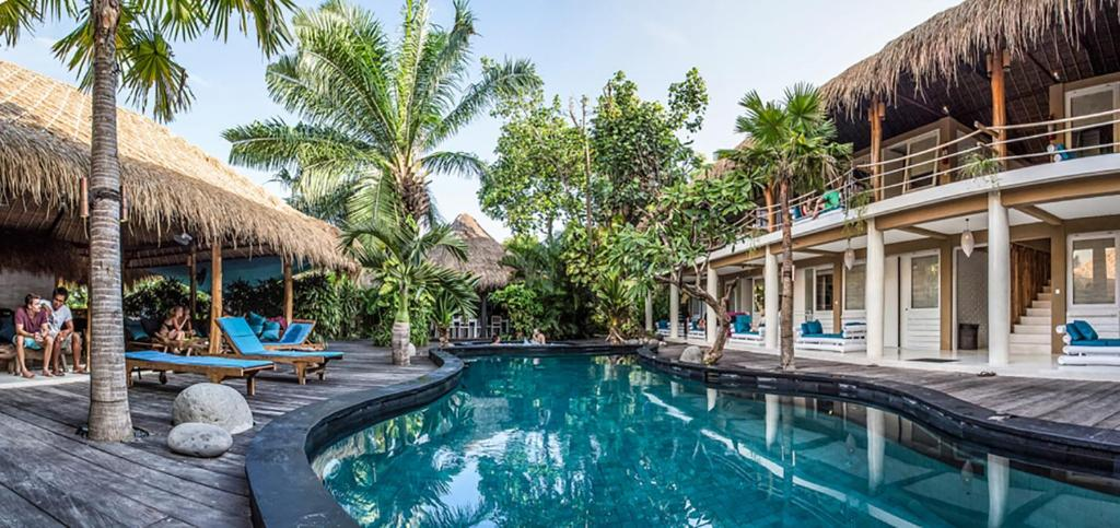The swimming pool at or near The Green Room Seminyak