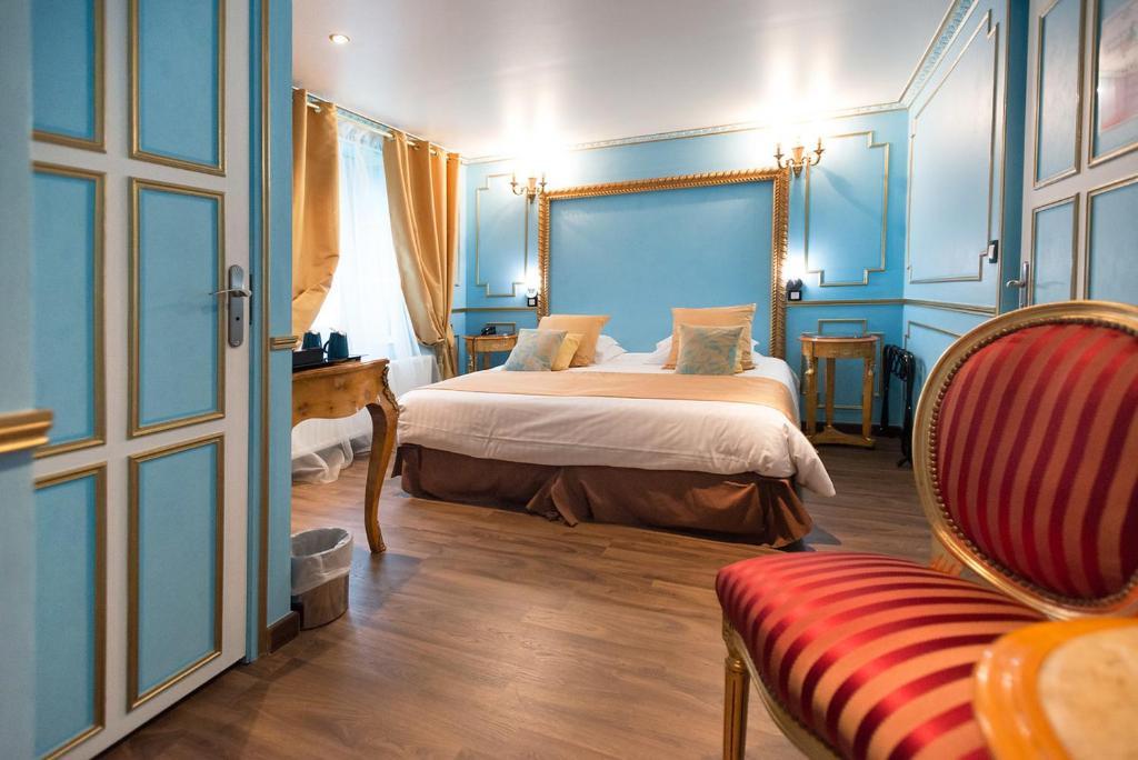Un ou plusieurs lits dans un hébergement de l'établissement Villa Aultia Hotel