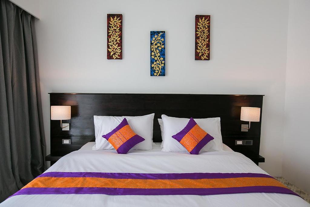 SakSukSmile Resort 객실 침대