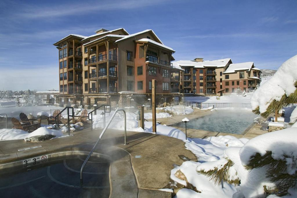 Trailhead Lodge by Steamboat Resorts during the winter