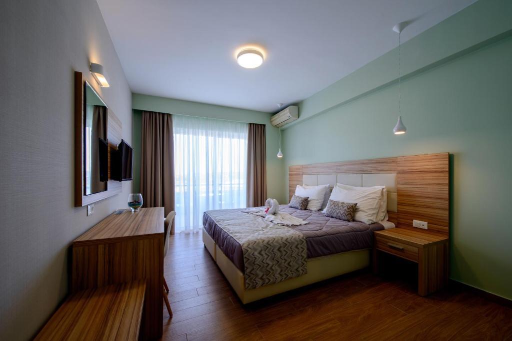 Cama o camas de una habitación en Filerimos Village