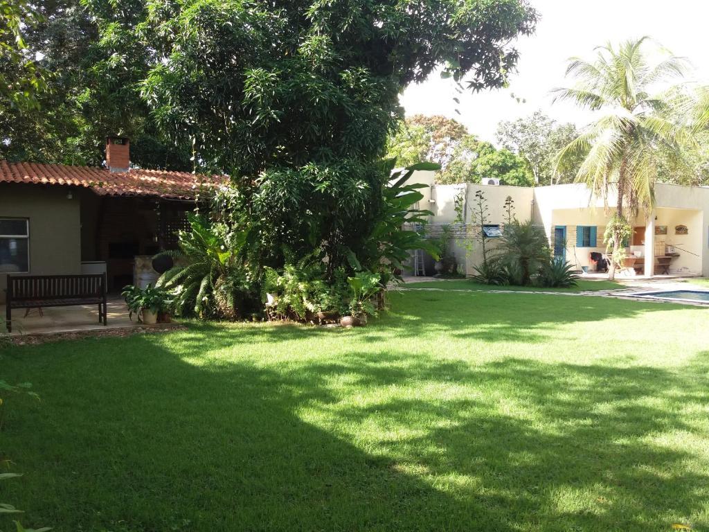 A garden outside Chacara Sao Jorge