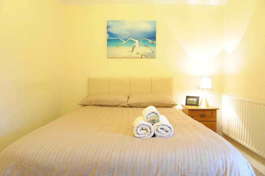 A bed or beds in a room at Breanloughaun BriarHill galway