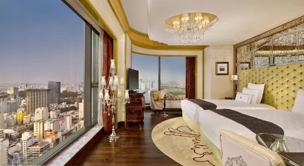 Phòng Grand Deluxe Có Giường Cỡ King/2 Giường Đơn Với Tín Dụng Khách Sạn Hàng Ngày 100 USD/Người