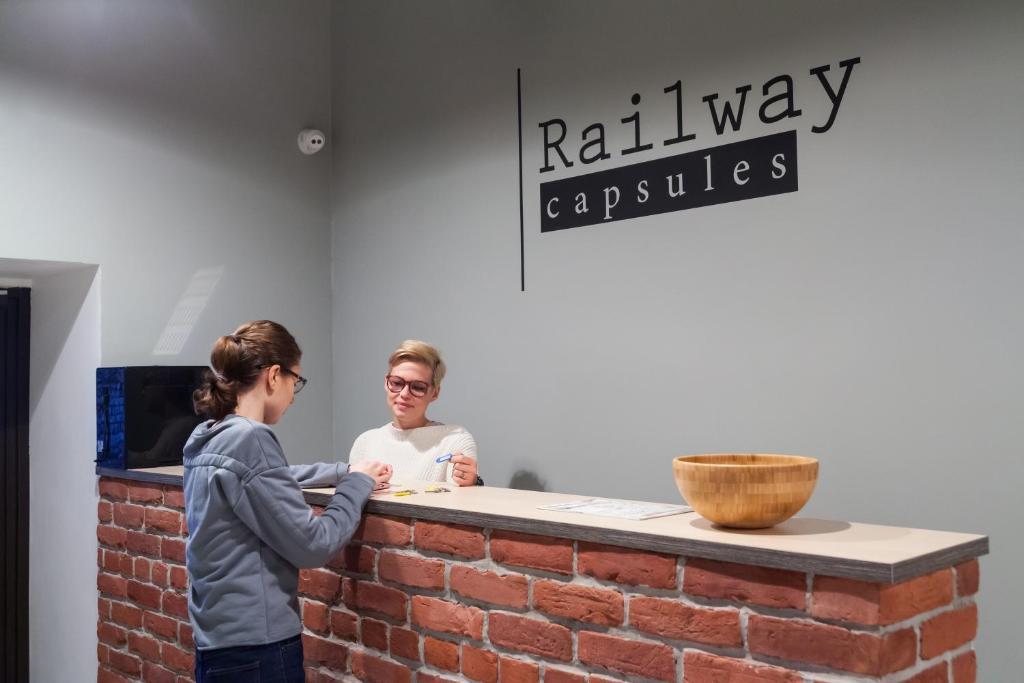 Лобби или стойка регистрации в Railway capsules