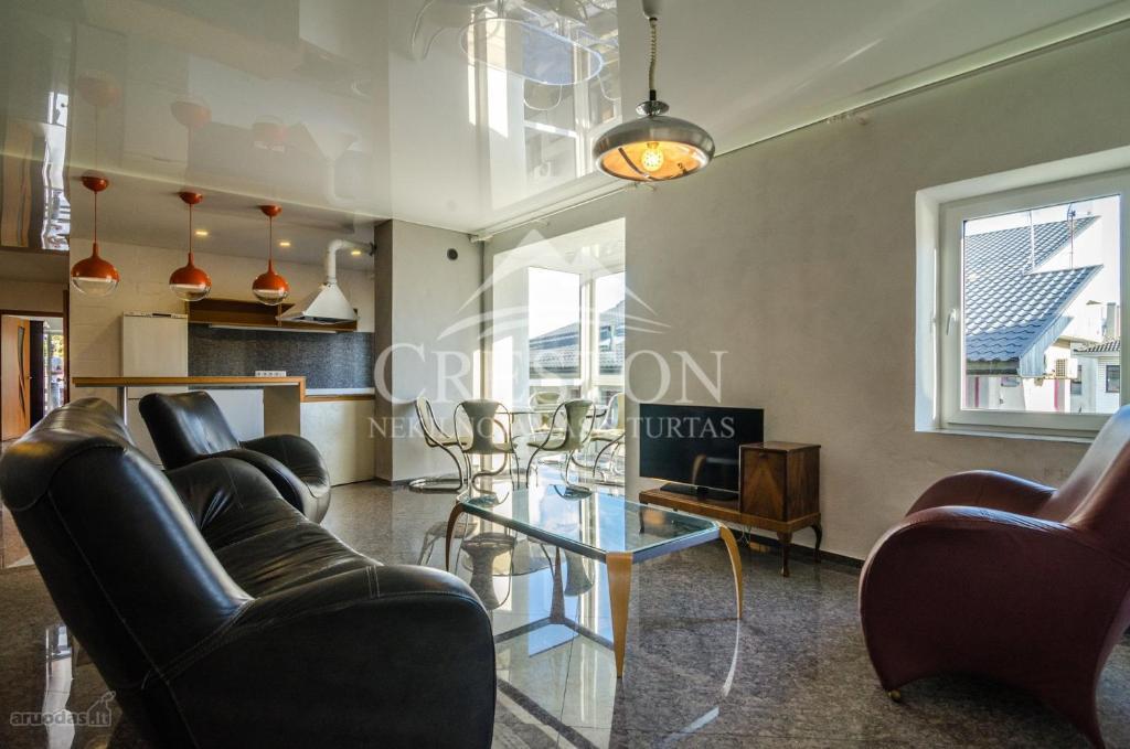 A seating area at Vilnius Luxury Apartment 1