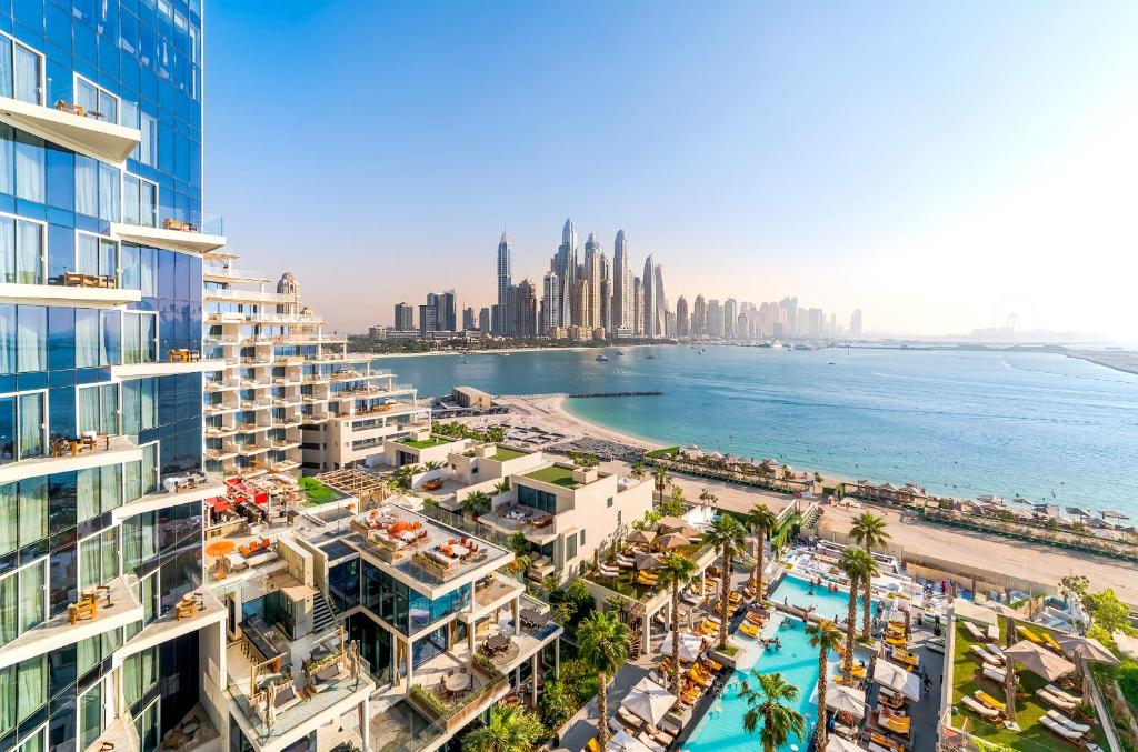 A bird's-eye view of Five Palm Jumeirah Dubai