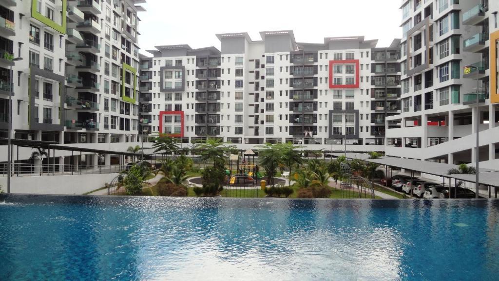 The swimming pool at or near Mahkota Cheras Condo near MRT to KL