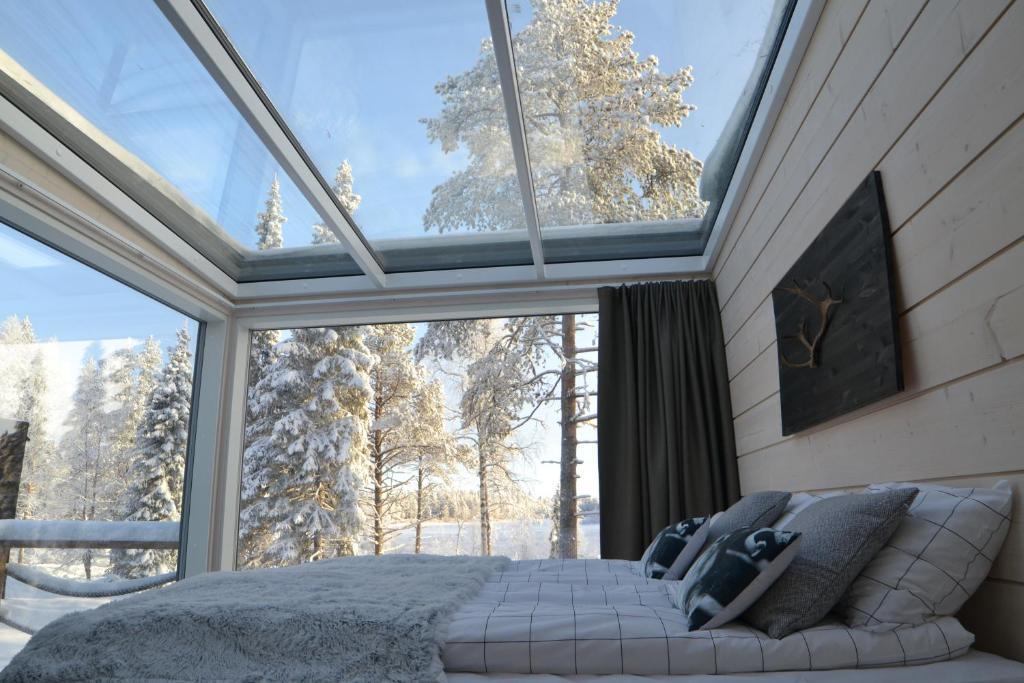 Iisakki Glass Village in de winter