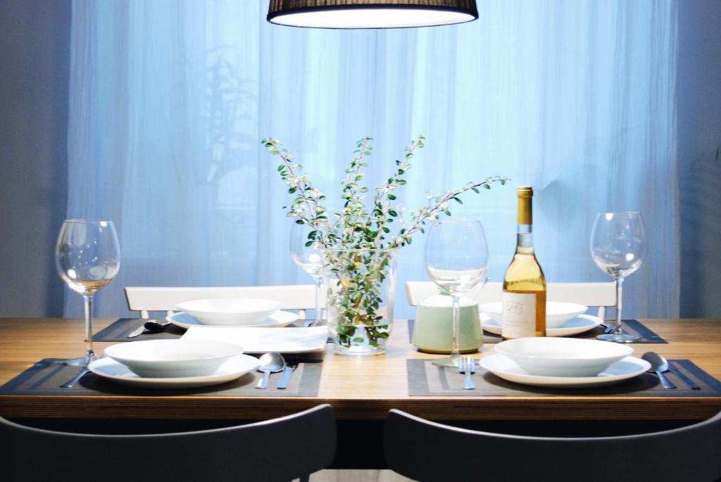 Restoran atau tempat makan lain di Beautiful & Cosy apartment - Old Town