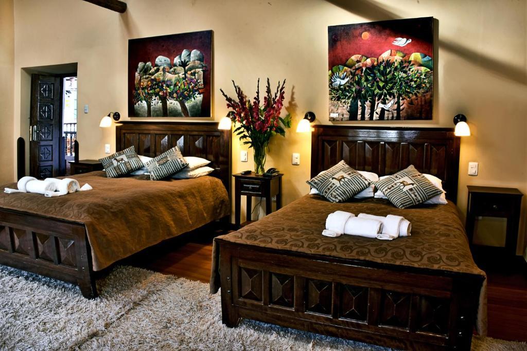 A bed or beds in a room at Andenes al Cielo