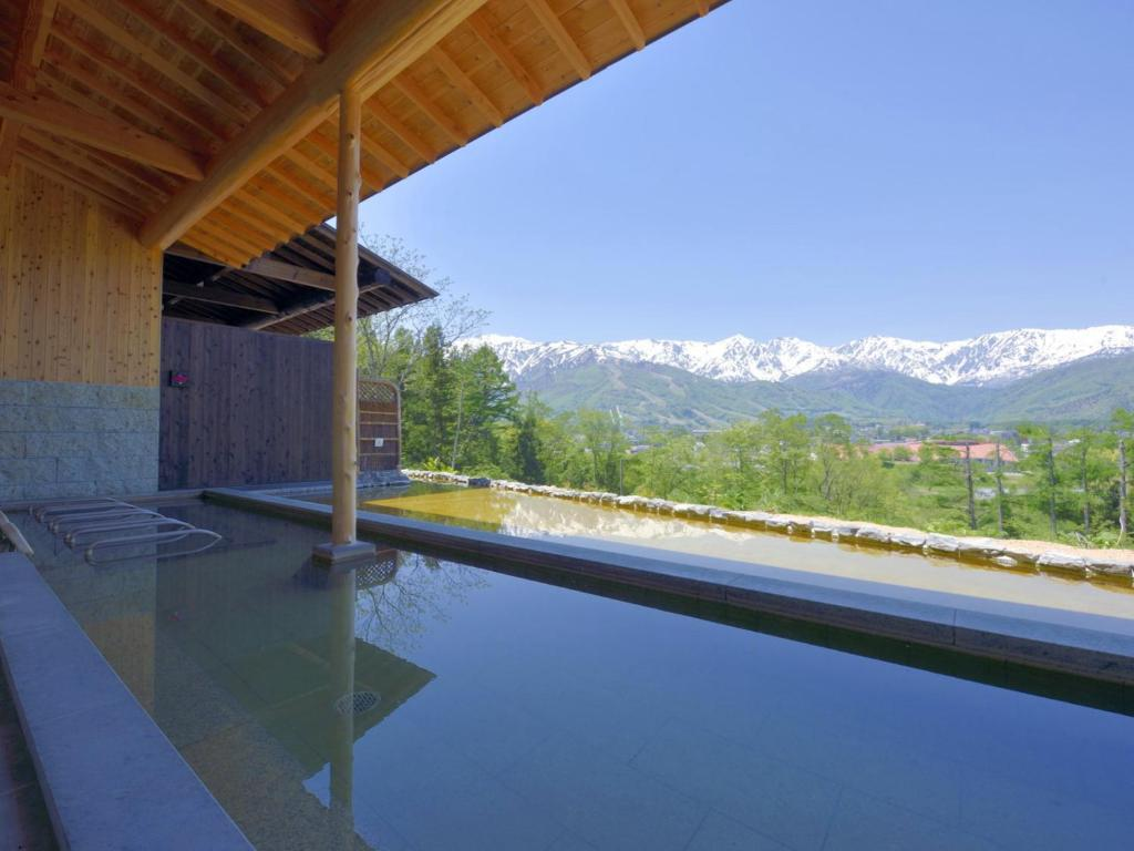 The swimming pool at or near Hakuba Highland Hotel