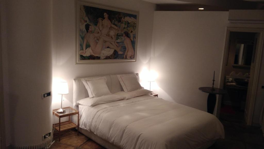 La Casa di Lilì 객실 침대
