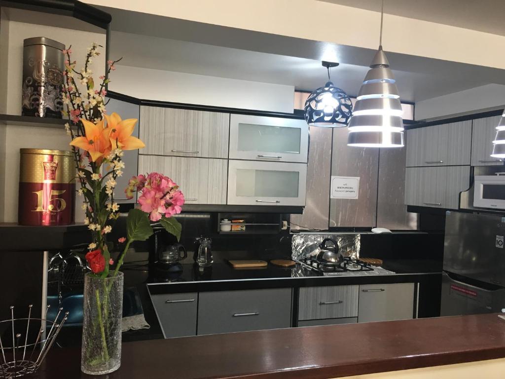 Una cocina o zona de cocina en Comodo y Seguro Homestay
