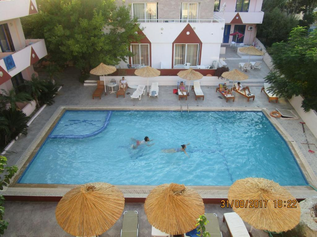 A view of the pool at Saint Konstantin Beach Apartments or nearby