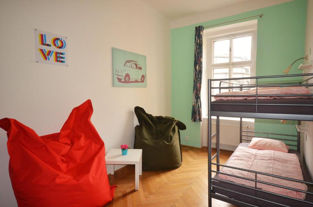 A bunk bed or bunk beds in a room at Travel&Joy backpackers