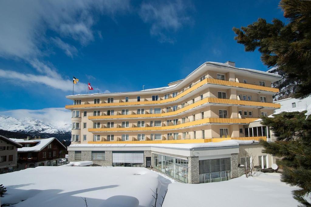 Hotel Schweizerhof Pontresina during the winter