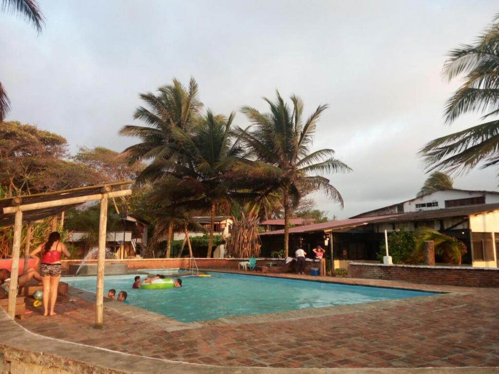 The swimming pool at or near Cocosolo Lodge