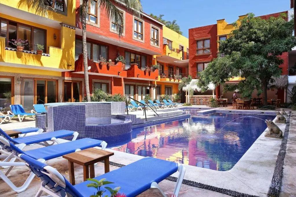 The swimming pool at or near El Pueblito de Sayulita
