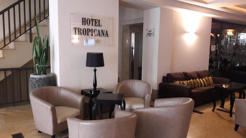 The lobby or reception area at Tropicana Hotel