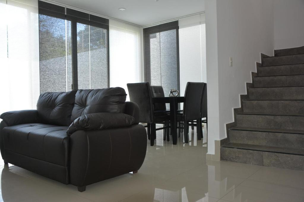 A seating area at Casa Olliver and Siham