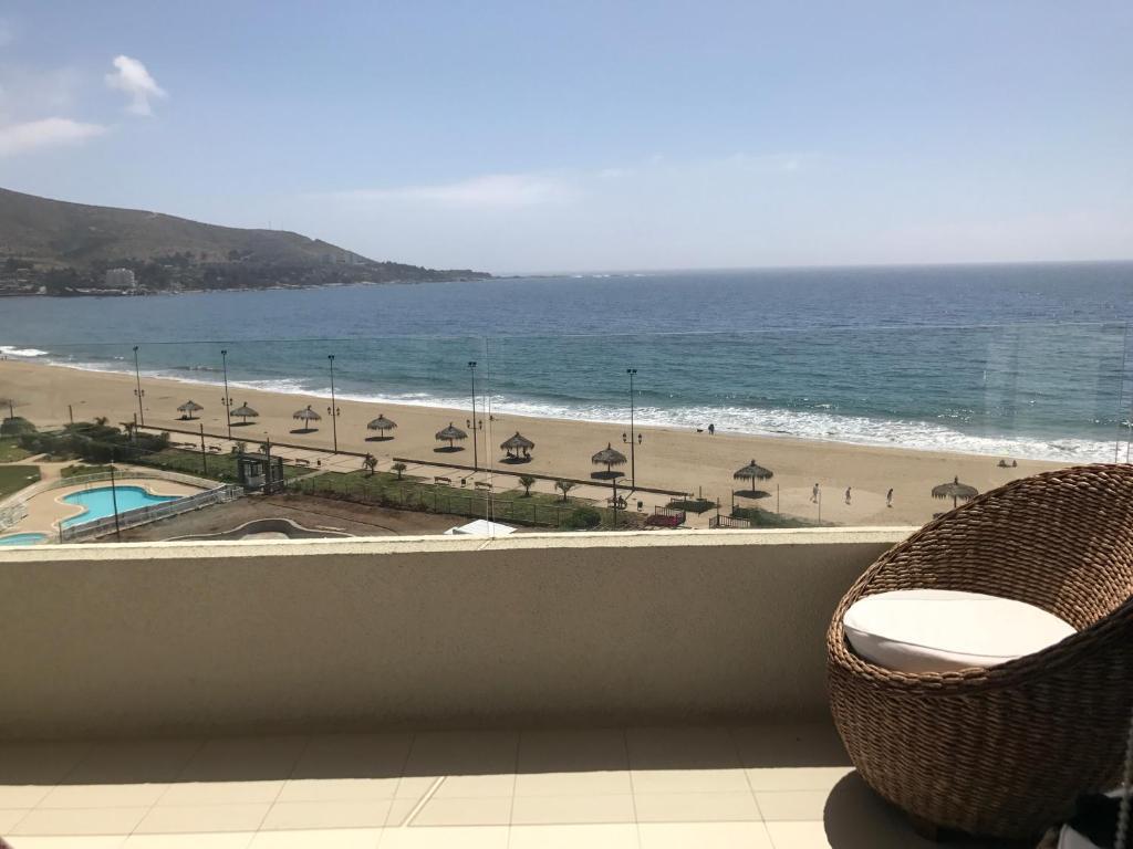Un balcón o terraza de Departamento con salida a la playa