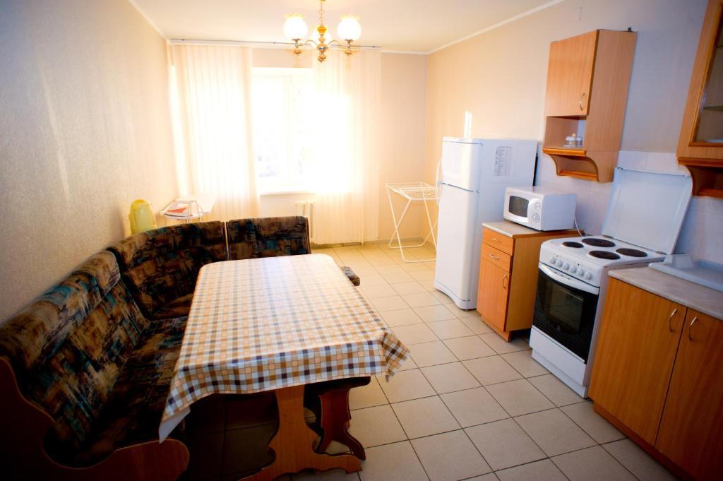 A kitchen or kitchenette at Hostel Trukhinova 3