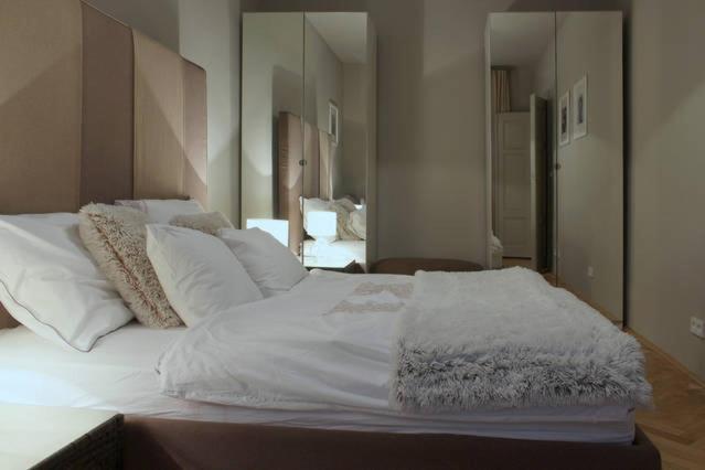 Ein Bett oder Betten in einem Zimmer der Unterkunft Wonderful apartment Lucie