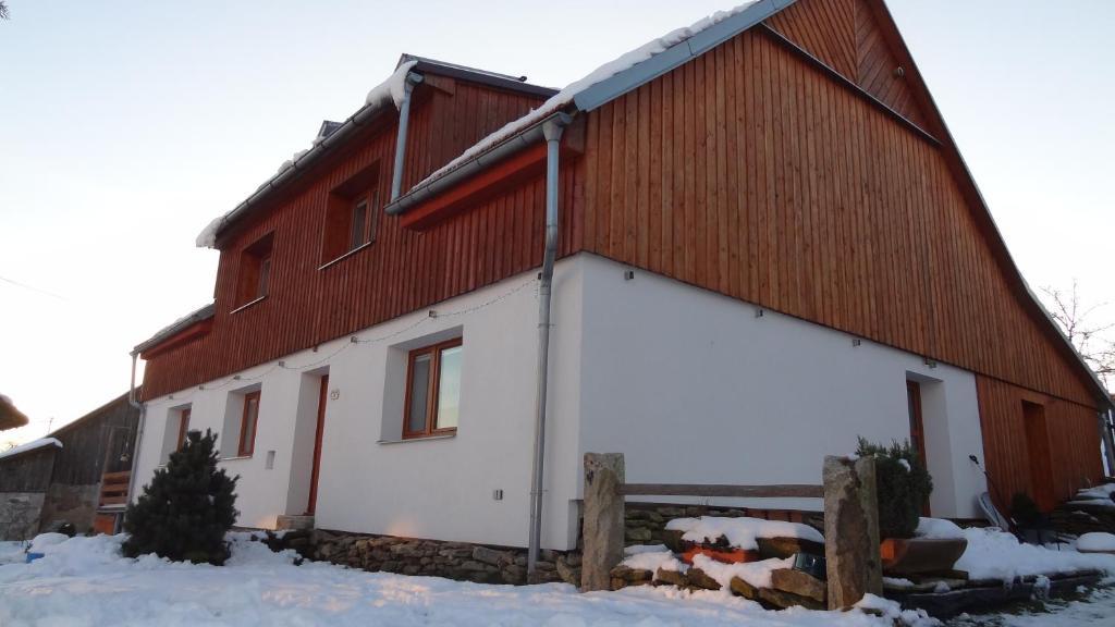 Ubytování U Kapličky during the winter