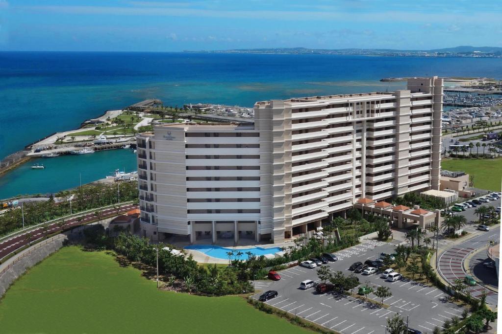 A bird's-eye view of Moon Ocean Ginowan Hotel & Residence