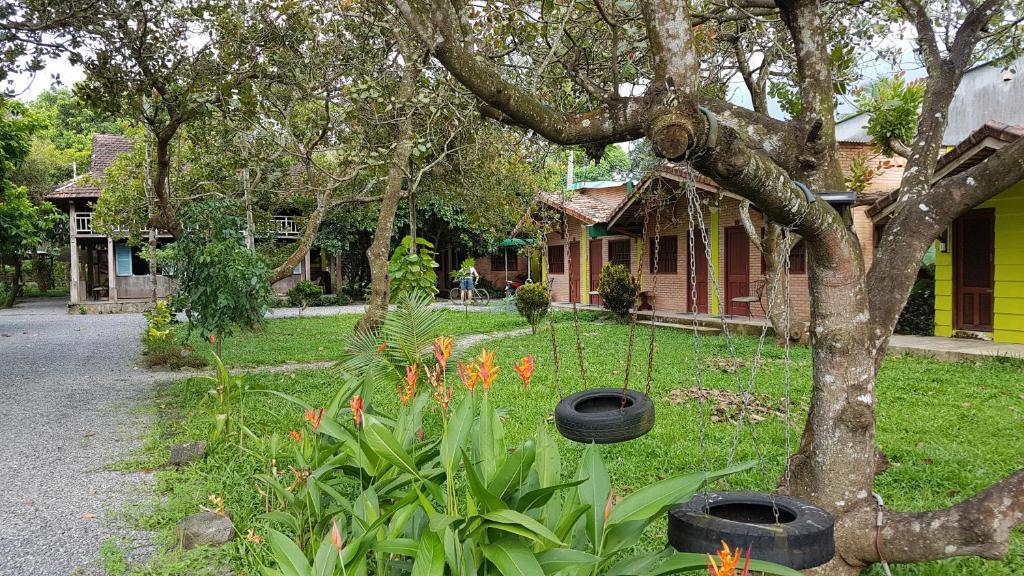 A garden outside Cat Tien FarmStay