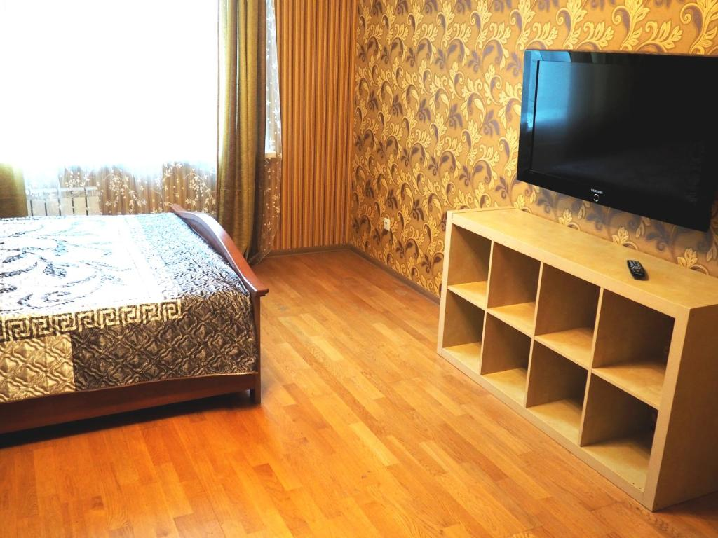 A television and/or entertainment centre at Apartments on Nadsonovskaya 24