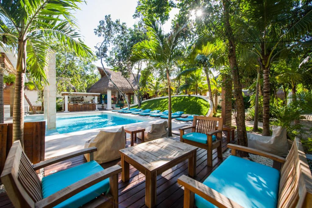 The swimming pool at or near Prana Boutique Hotel