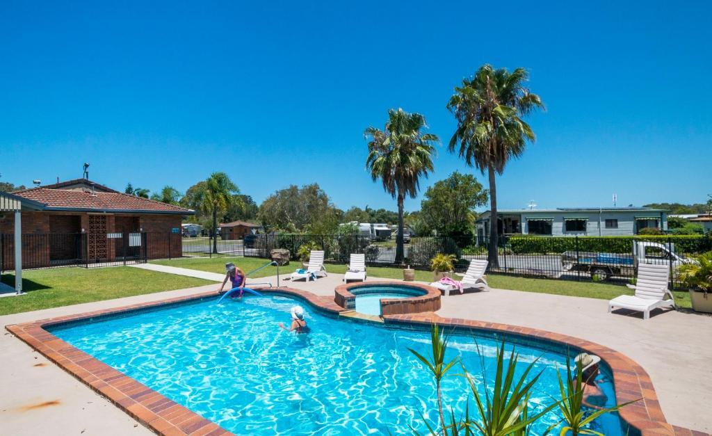 The swimming pool at or near Yamba Waters