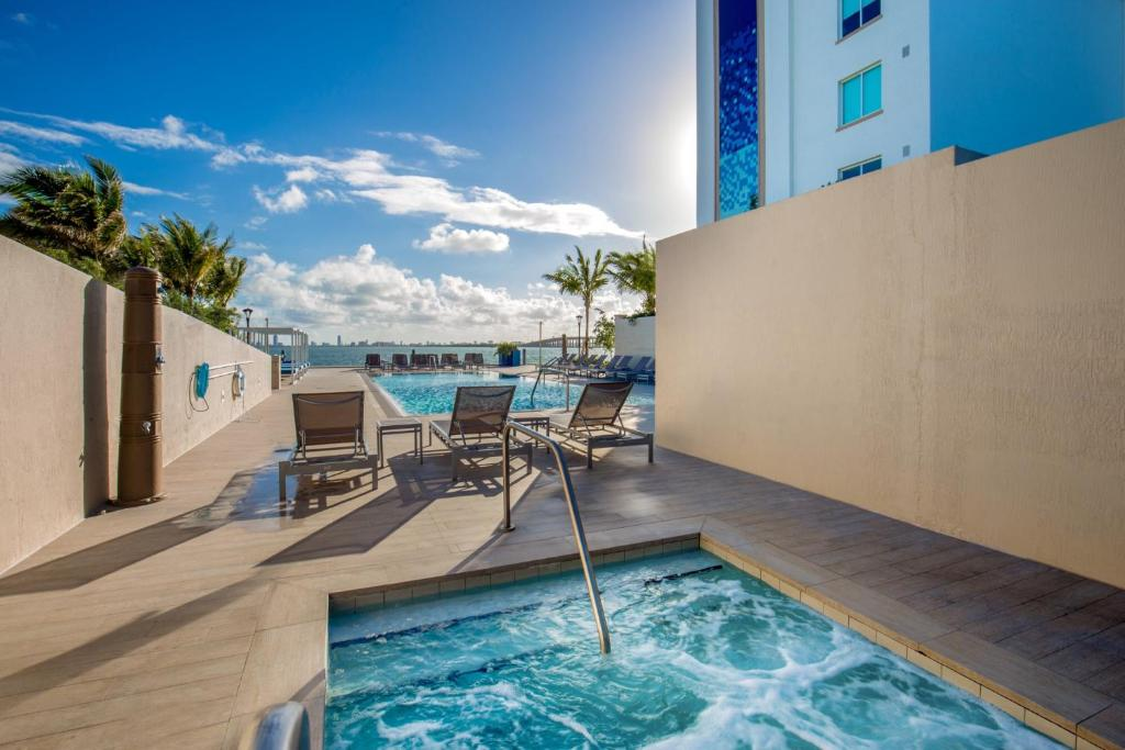 The swimming pool at or near Mare Azur Design District Luxury Apartments