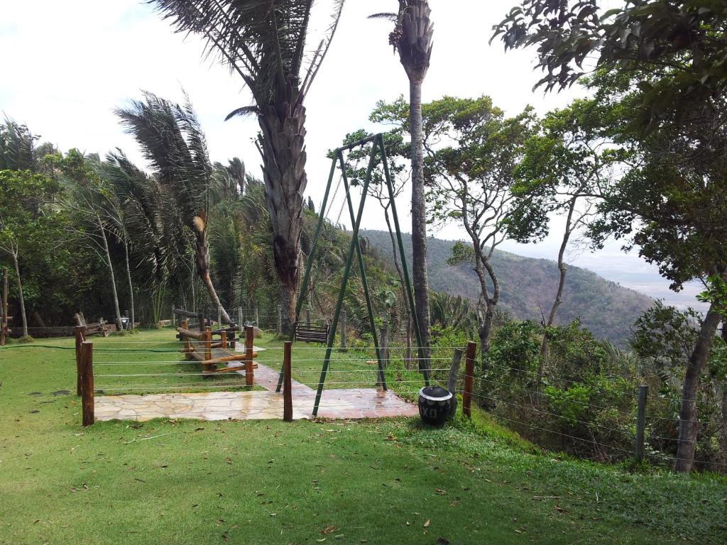 A garden outside Sítio do Bosco