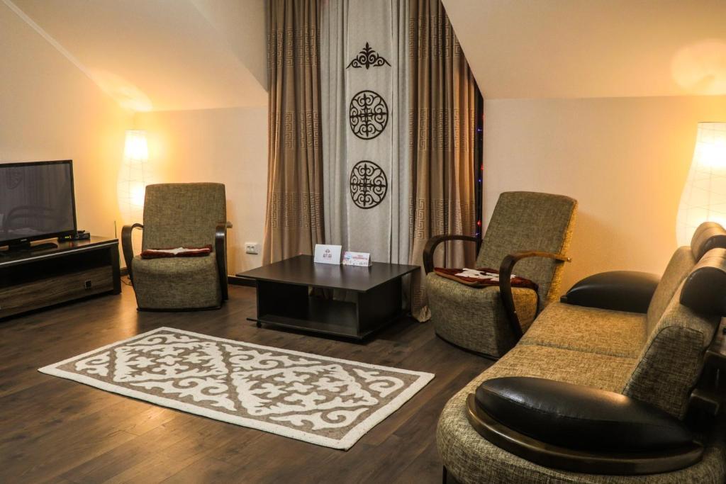Гостиная зона в Guest house Altay
