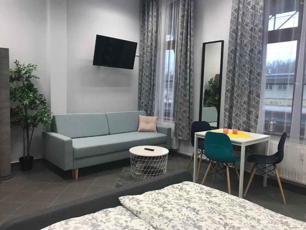 Część wypoczynkowa w obiekcie Hostel Toruń Główny