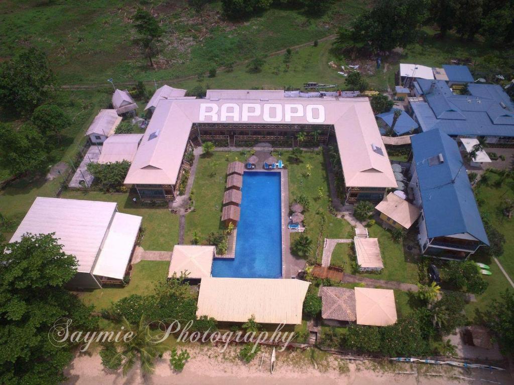 A bird's-eye view of Rapopo Plantation Resort