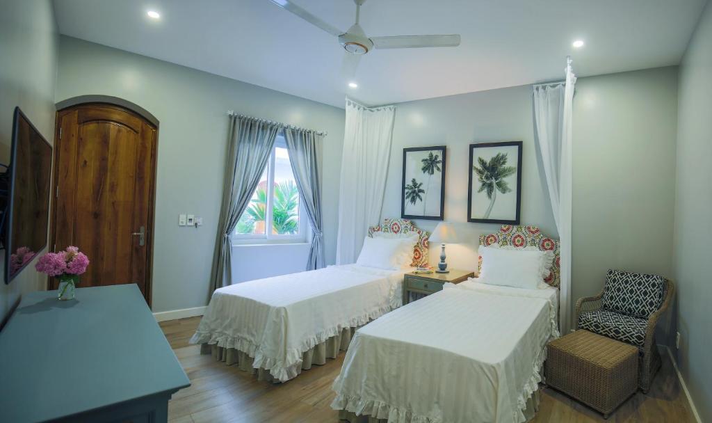 Phòng Superior 2 Giường Đơn Nhìn Ra Vườn