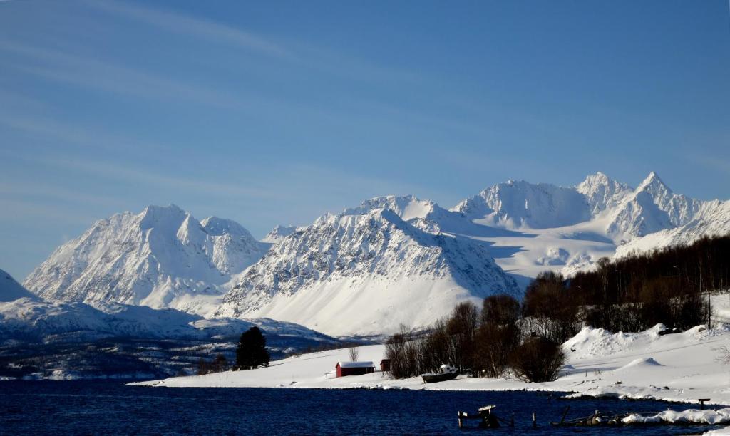 Olderdalen Ski Camp during the winter