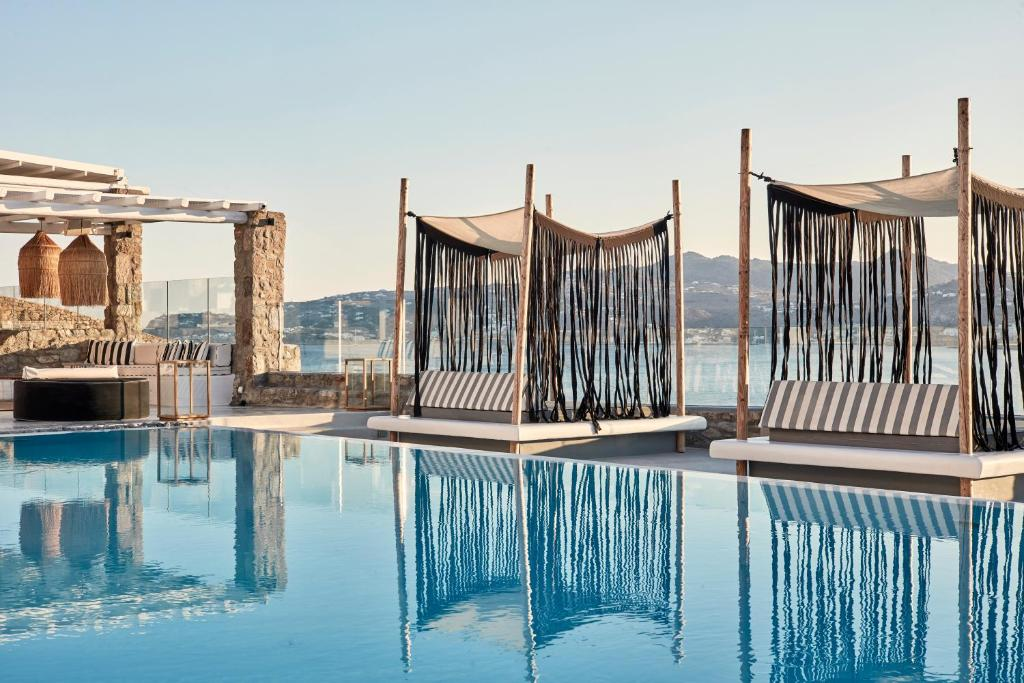 The swimming pool at or near Mykonos No5 Luxury Suites & Villas