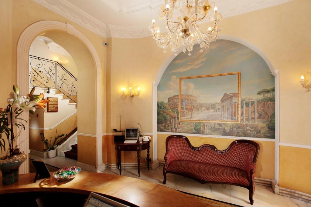 Кът за сядане в Hotel Solis