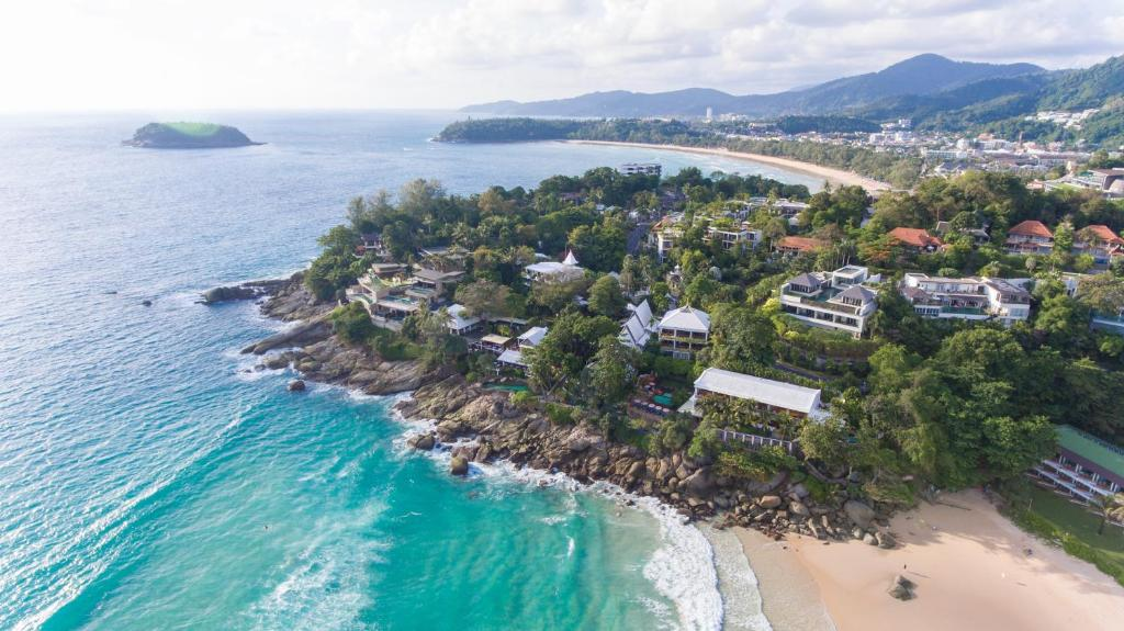Pemandangan dari udara bagi Mom Tri's Villa Royale