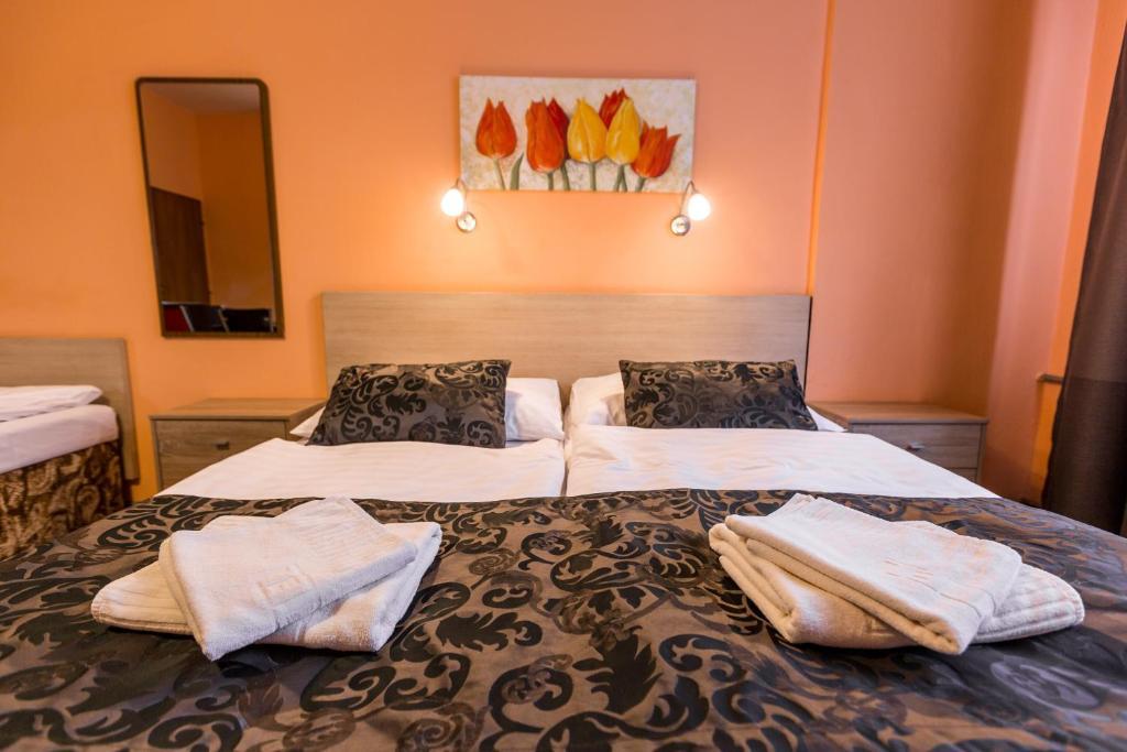 Ein Bett oder Betten in einem Zimmer der Unterkunft Rezidence Davids